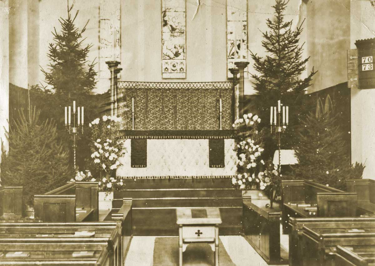 Christmas at St Mary, Guarlford, just before the Great War