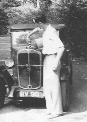 Keith with his Standard car