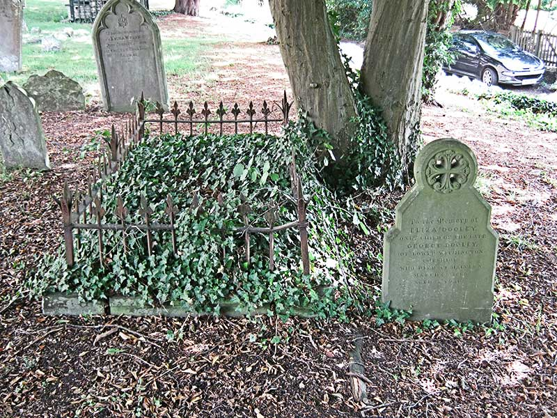 The graves of Mary Garlike and Eliza Dooley