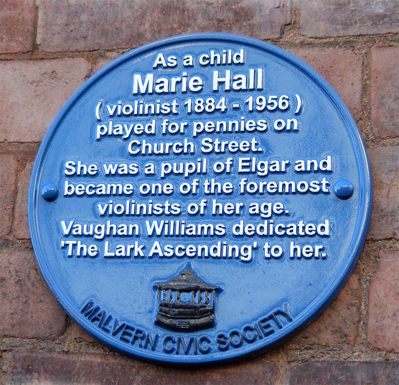 Plaque to Marie Hall