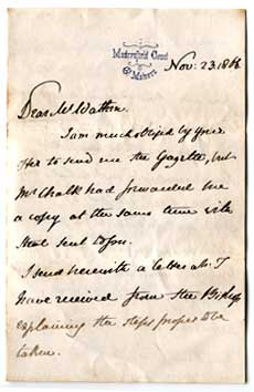 First page of letter from Earl Beauchamp dated 1866